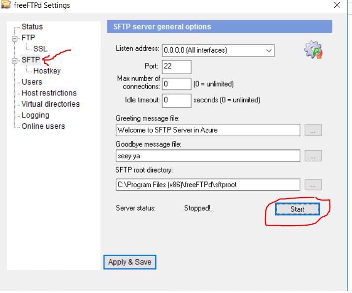 start-SFTP-Server