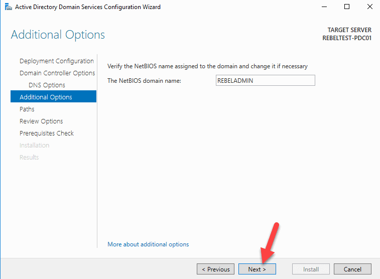 NetBISO-Domain-name