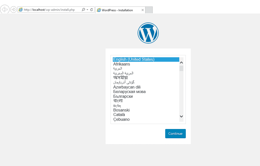 wordpress-windows-install