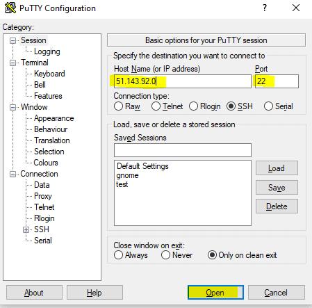 connect using ssh keys