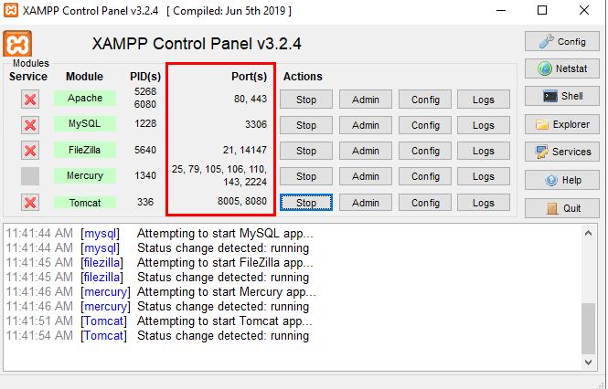 XAMPP-firewall-Ports