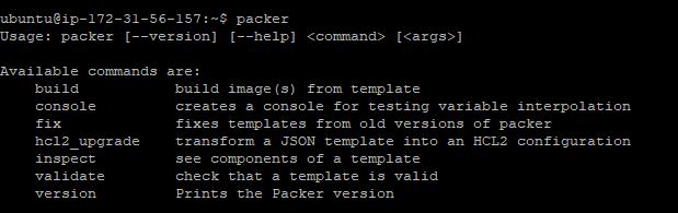 Packer-command-ubuntu
