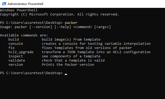 Packer-Powershell