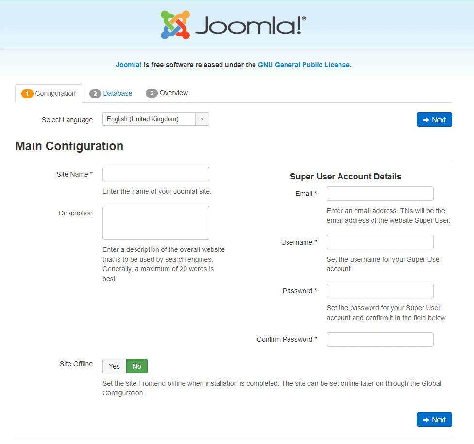 Joomla-Install