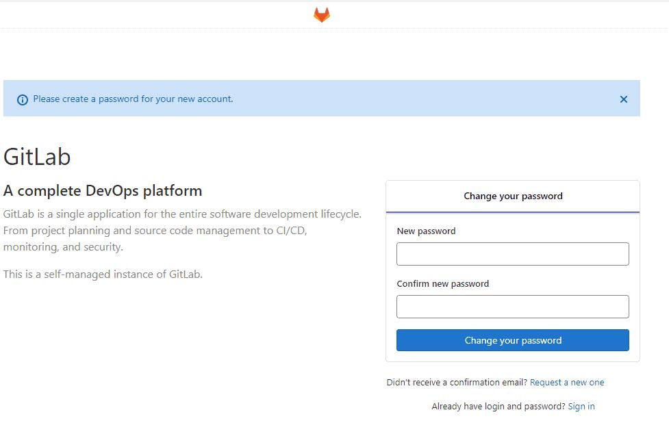 Gitlab-set-password