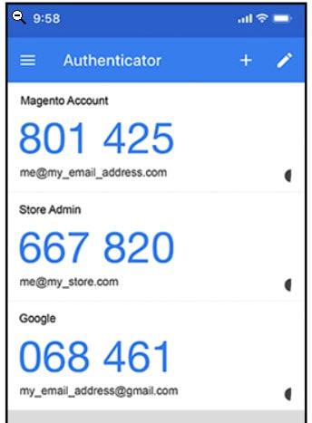 Google authenticator-app