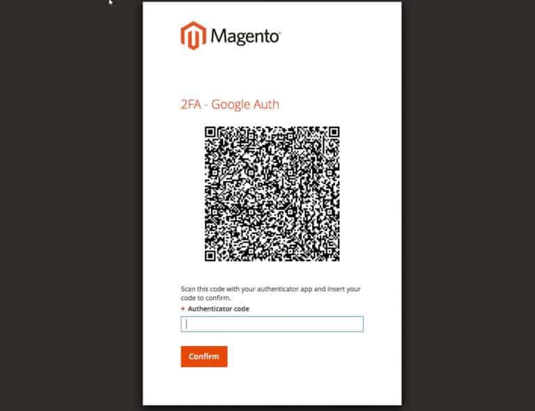 magento-google-authenticator-code