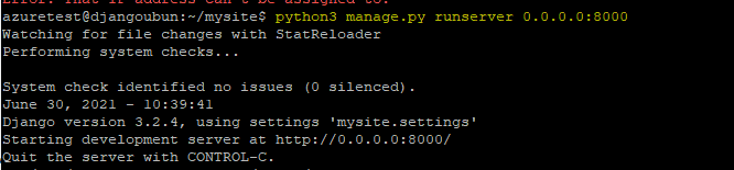 Starting-Django-Server